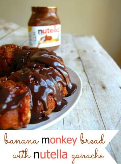 Banana Monkey Bread with Nutella Ganache