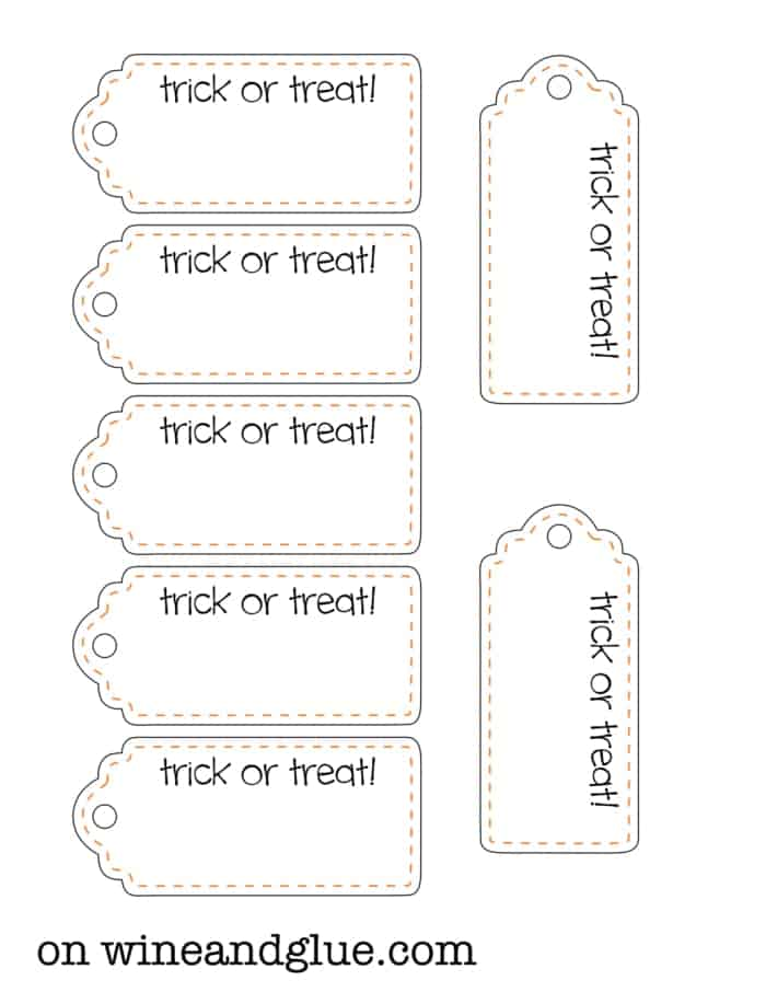 Candy Corn Pops!  A fun Halloween treat complete with free printable tags! via www.wineandglue.com