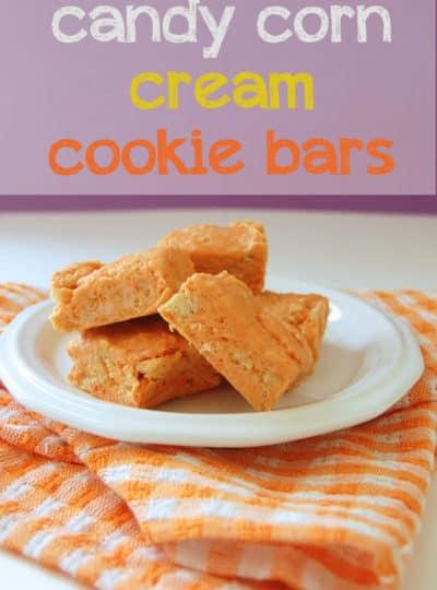 Candy Corn Cream Cookie Bars