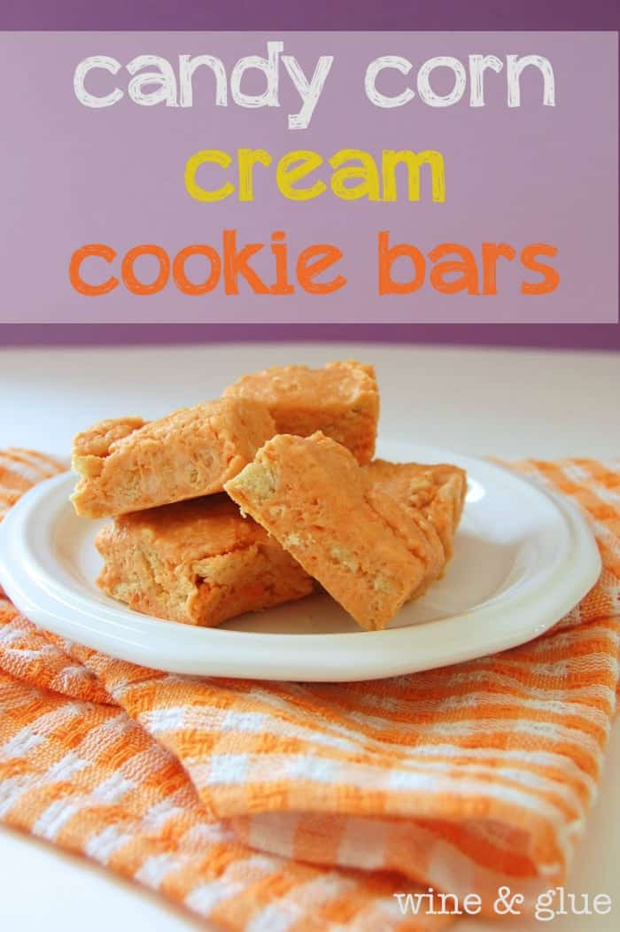 Candy Corn Cream Cookie Bars - Wine & Glue