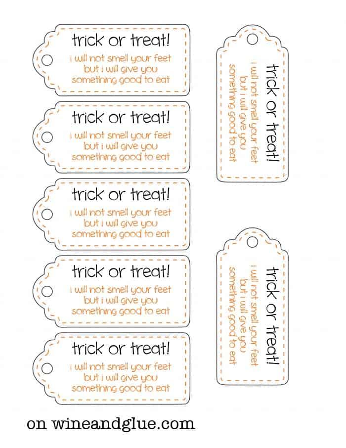 halloween goodie bags tags