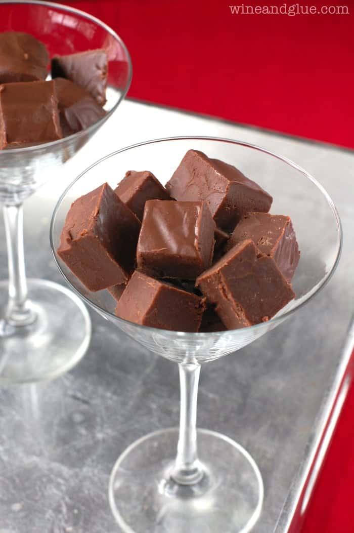 Chocolate Amaretto Fudge