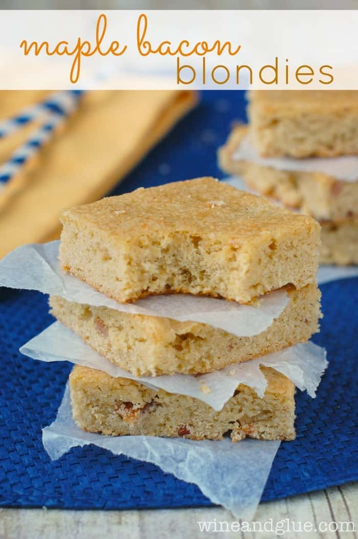 Maple Bacon Blondies! Sweet maple flavor combines perfectly with the ...