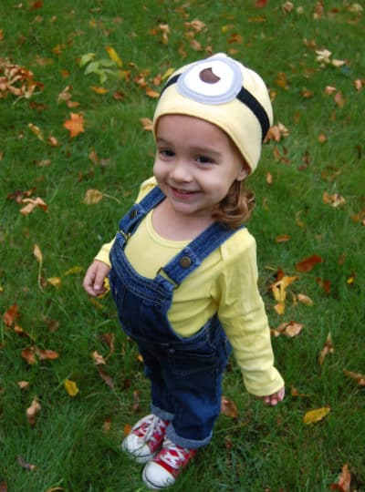 Minion Halloween Costume with Easy to Sew Minion Hat