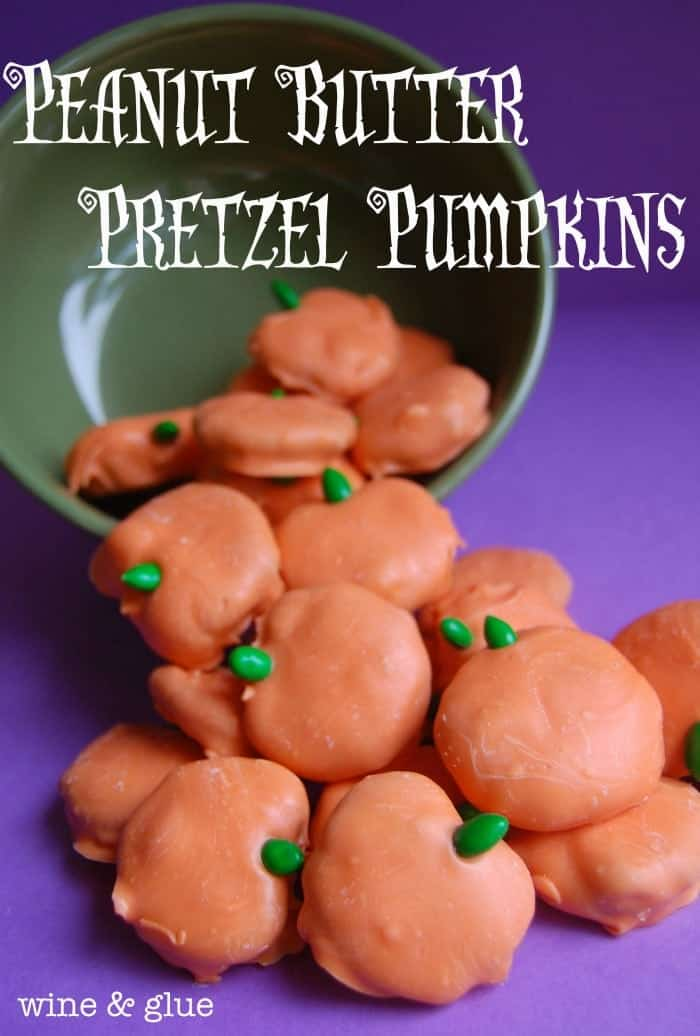 Peanut Butter Pretzel Pumpkins