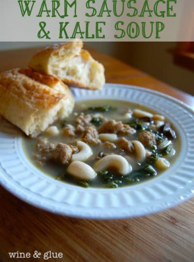 Warm Sausage & Kale Soup