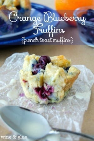 Orange Blueberry Fruffins {French Toast Muffins}