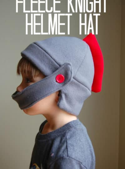 Fleece Knight Helmet Hat {Free Pattern}