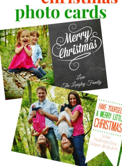 Homemade Christmas Photo Cards