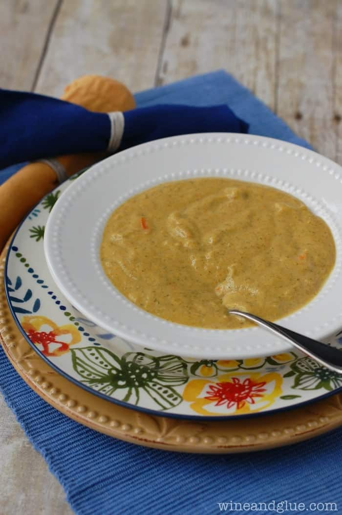 This Lighter Broccoli Cheese Soup is your favorite made skinnier!