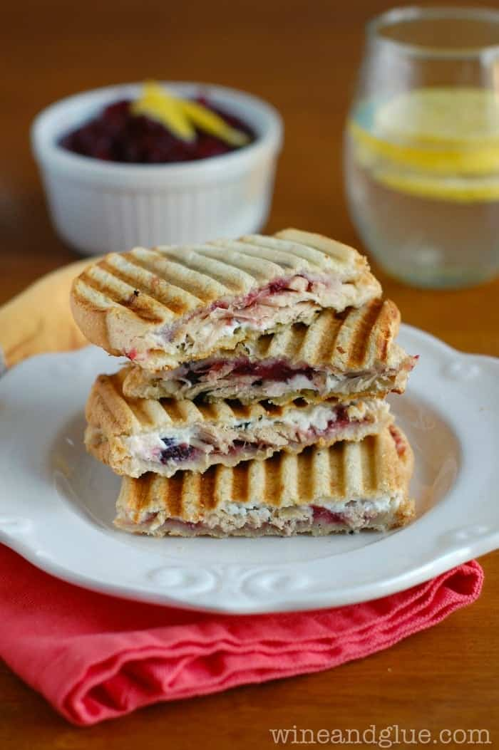 Leftover Turkey, Cranberry, & Pesto Panini