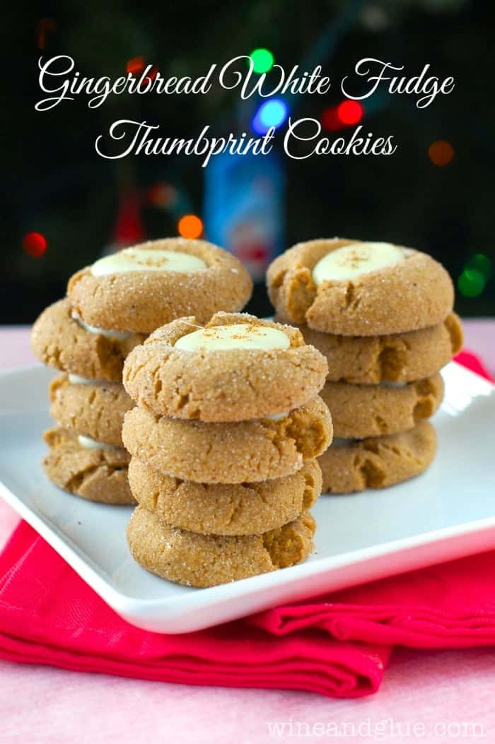 Gingerbread White Fudge Thumbprint Cookies | www.wineandglue.com