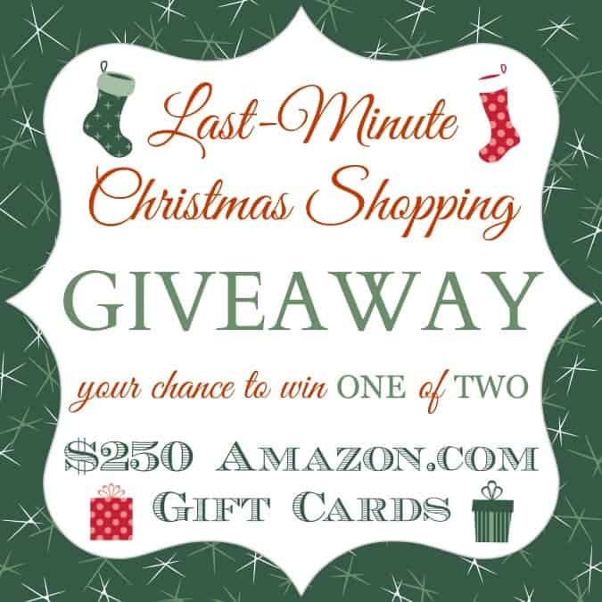 Last Minute Christmas Shopping Giveaway Square
