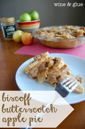 Biscoff Butterscotch Apple Pie {with Sugar Cookie Crust}