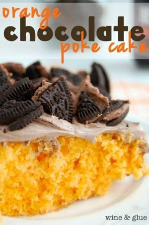 Orange Chocolate Poke Cake