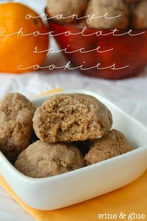 Orange Chocolate Spice Cookies