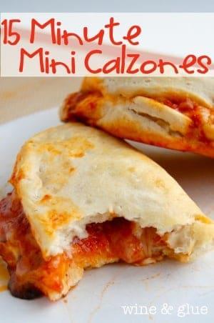 15 Minute Mini Calzones