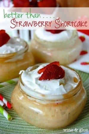 Mason Jar Poke Cake {Better Than . . . Strawberry Shortcake}