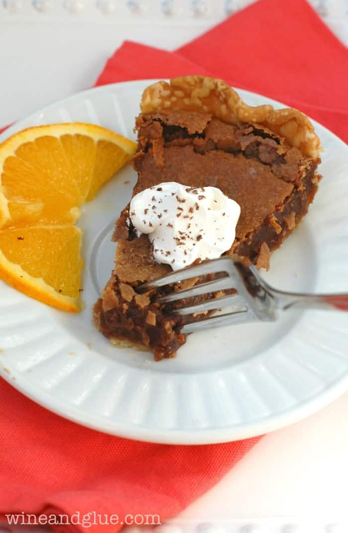 Orange Nutella Chess Pie | www.wineandglue.com | This pie is soooo easy to make, but incredibly decadent!