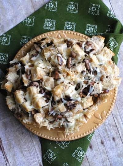 Mushroom & Swiss Pull Apart Bread
