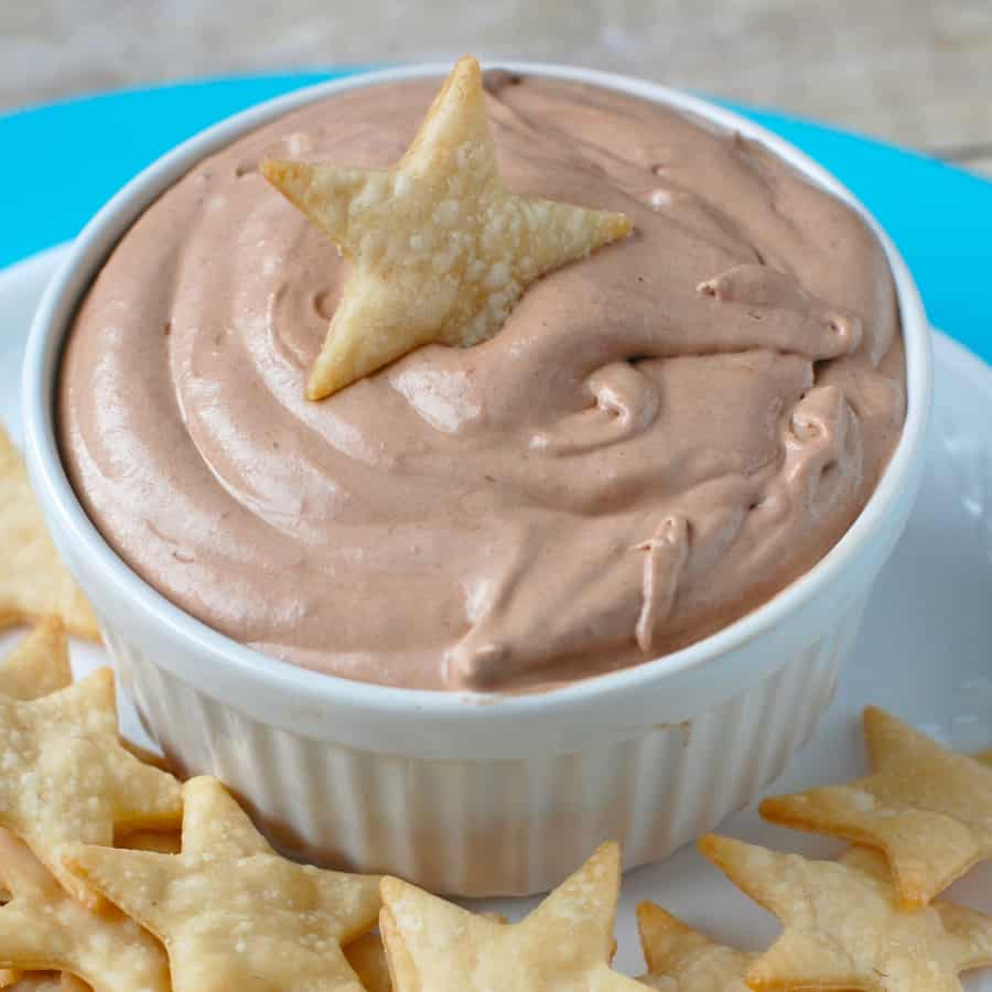 Skinny Banana Nutella Dip with Pie Crust Star Dippers