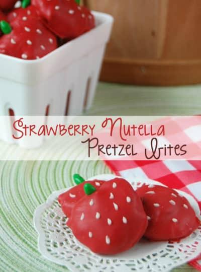 Strawberry Nutella Pretzel Bites