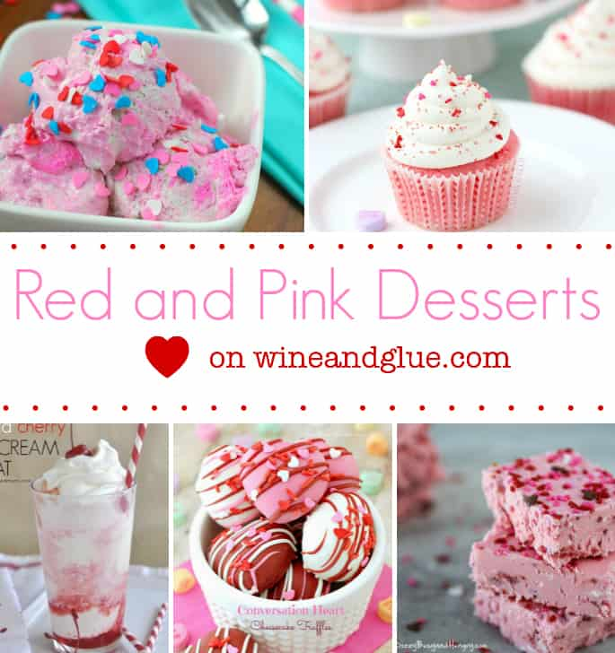Red and Pink Valentines Day Desserts