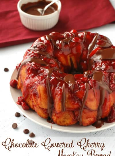 Chocolate Covered Cherry Monkey Bread