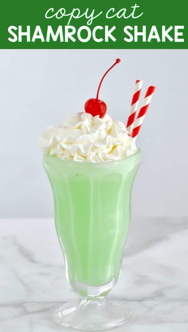 We love this easy Shamrock Shake recipe!