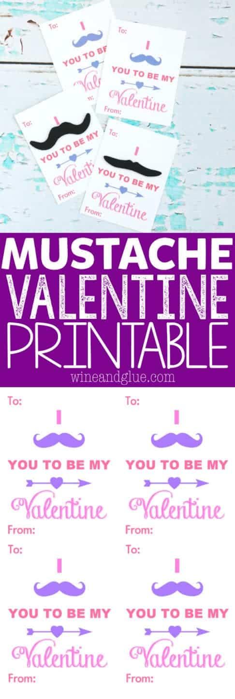 Free Valentine Printable {Mustache Valentines}