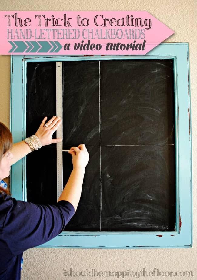 hand lettered chalkboards