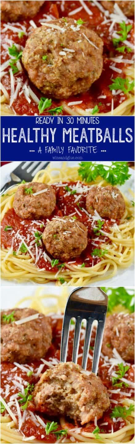 These Healthy Meatballs are a family favorite and ready in under 30 minutes!