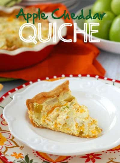 Apple Cheddar Quiche