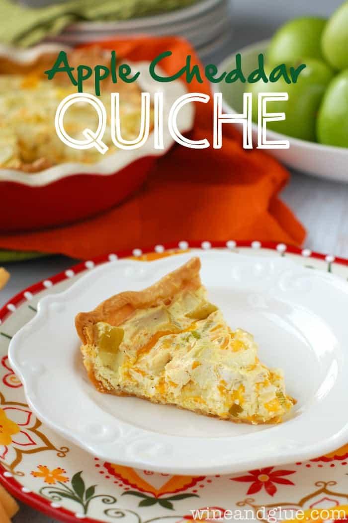 Apple Cheddar Quiche