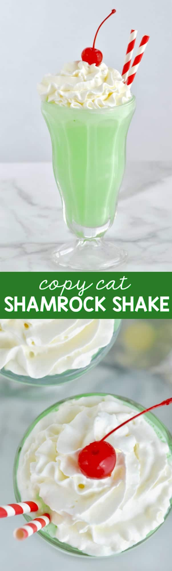 This Shamrock Shake Recipe is so easy and perfect for a treat at home!