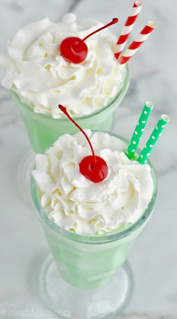 You only need a few ingredients to make a Shamrock Shake at home!