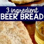 collage of photos of beer bread