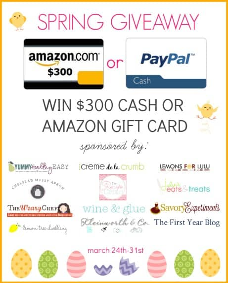 $300 Giveaway! You pick! Either Paypal or Amazon Cash!! | www.wineandglue.com