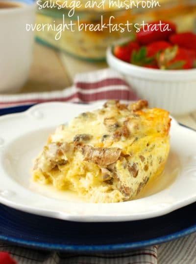 Sausage and Mushroom Breakfast Strata