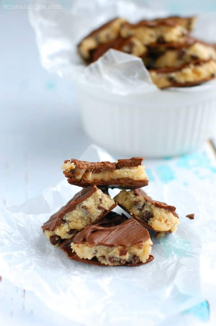 This Cookie Dough Bark is deliciously addictive and super easy!