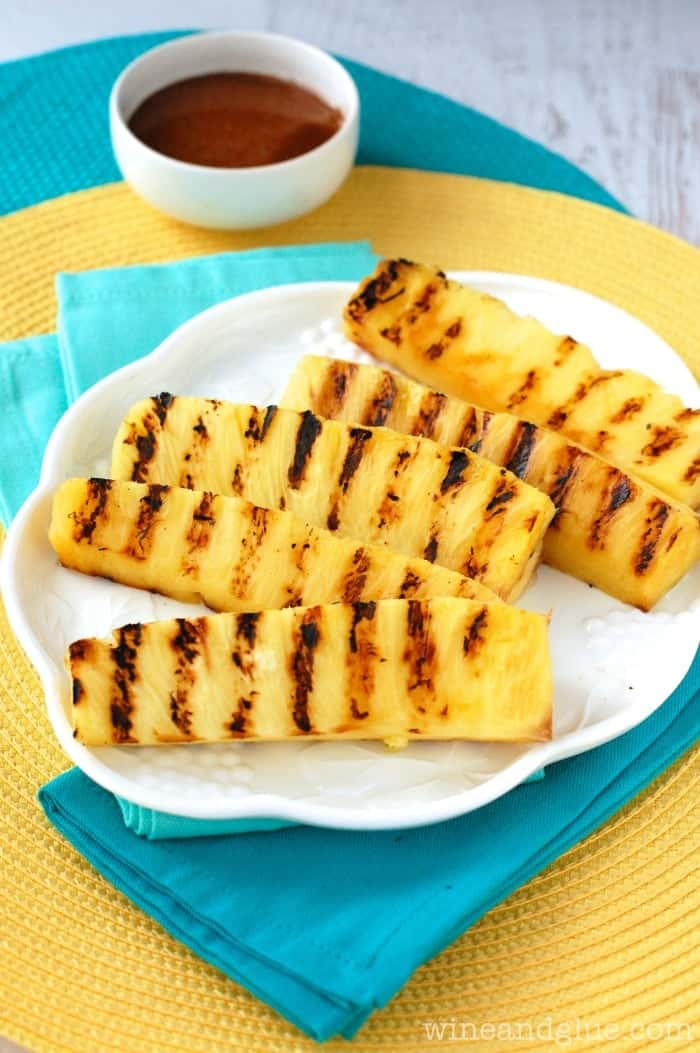 This Grilled Pineapple with Cinnamon Honey Drizzle is a perfect side dish or light dessert!