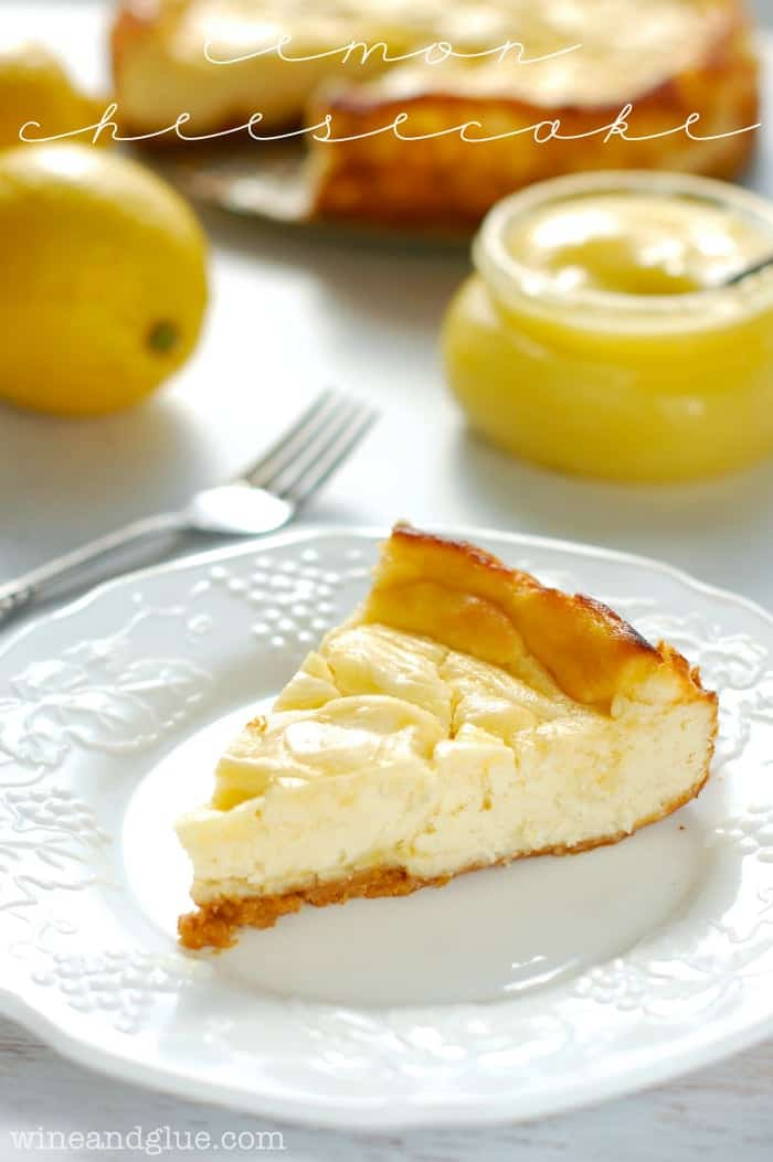 Lemon Cheesecake | A seriously amazing lemon swirled cheesecake