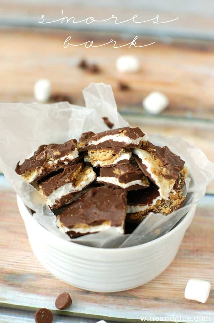 This Smores Bark is like a yummy, amazing inside out s'mores that you don't even need a camp fire for!