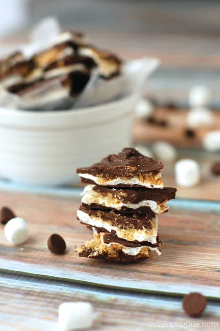 Like a yummy, amazing inside out s'mores that you don't even need a camp fire for!