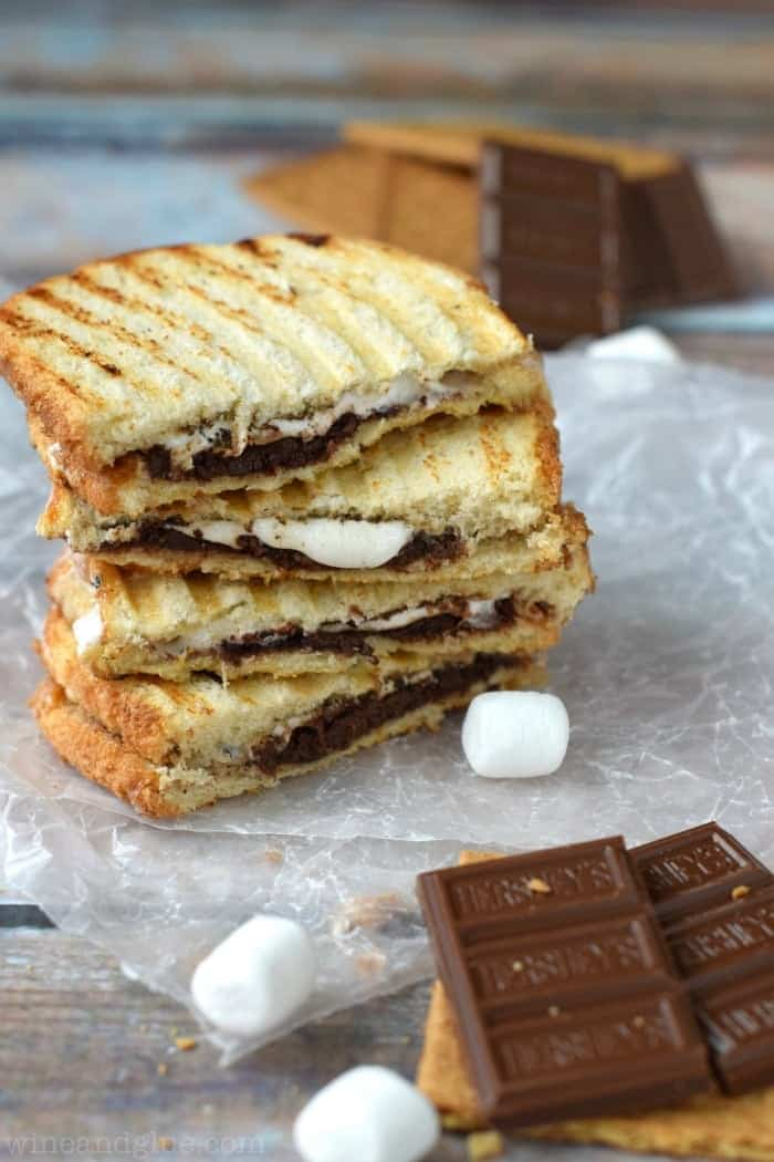 S'mores Panini | Chocolatey marshmallow deliciousness in a sandwich!