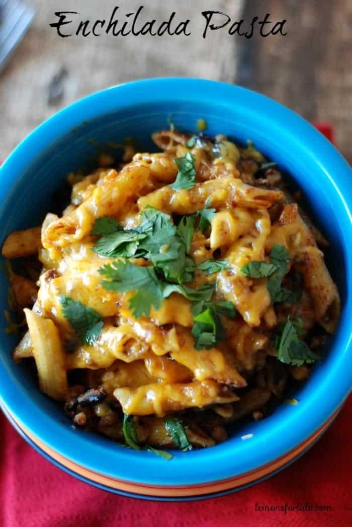 Enchilada Pasta {Guest Post from Lemons for Lulu}