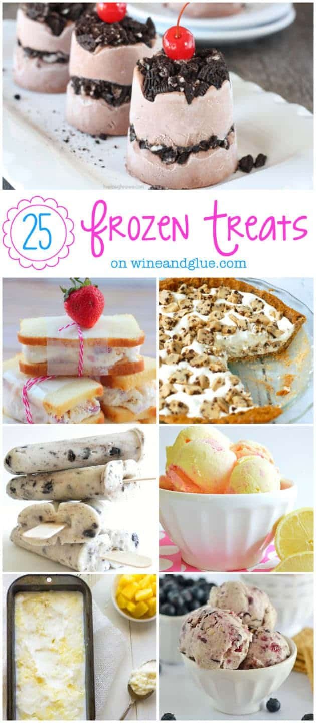 25 Frozen Treats Perfect for summer! | www.wineandglue.com