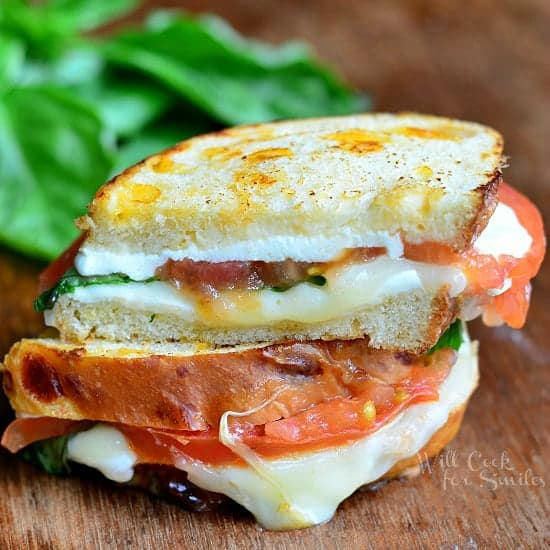 Caprese Grilled Cheese {Guest Post from Will Cook For Smiles}
