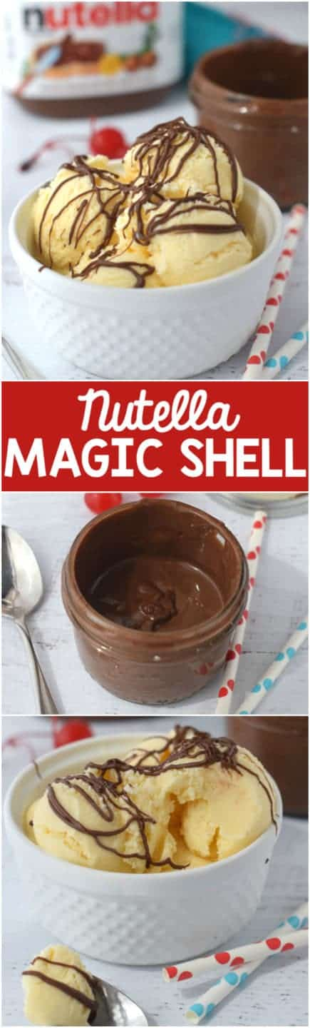This Nutella Magic Shell is simple to make and works just like the original magic shell!