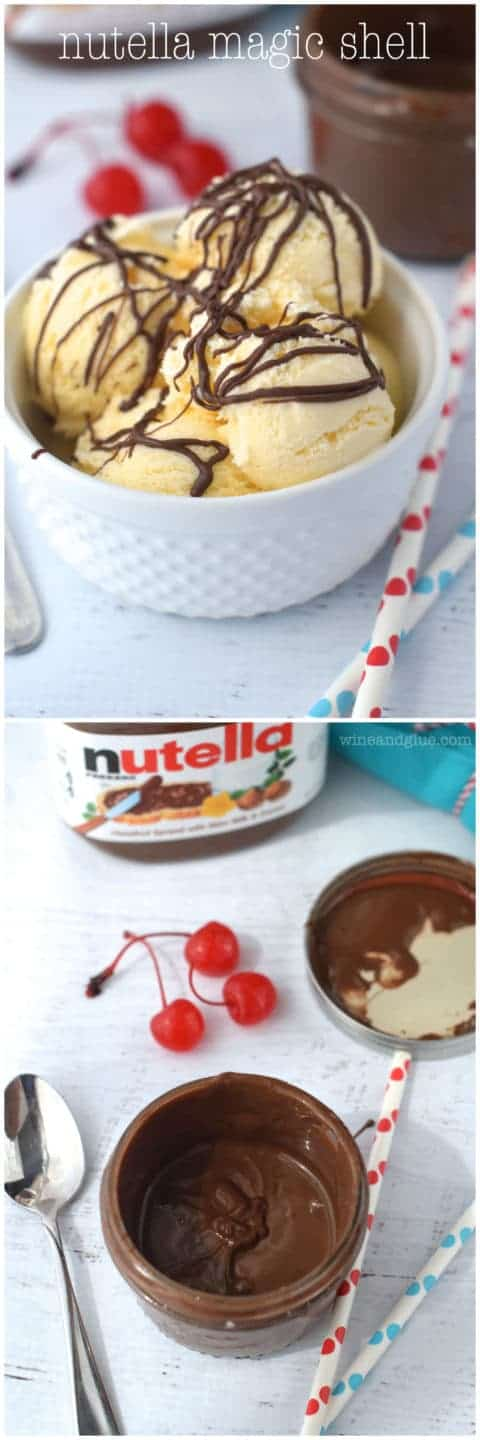 Nutella Magic Shell | Your favorite ice cream topping and your favorite flavor meet!